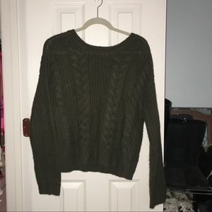 Forest Green Cord Sweater